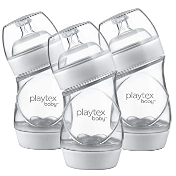 9 Ounce Blue Bottles Playtex Baby VentAire Bottle for Boys 3 Count Helps Prevent Colic and Reflux