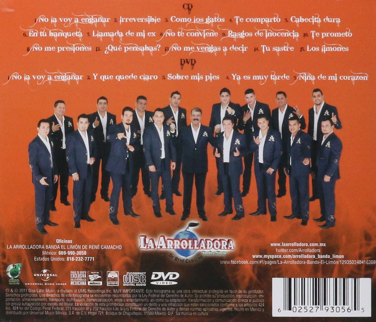 album de la arrolladora irreversible 2012