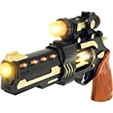 UMBRELLALABORATORY Steampunk Toy Gun Theater Prop Revolver with Spinning Lights Cosplay Costume Accessories