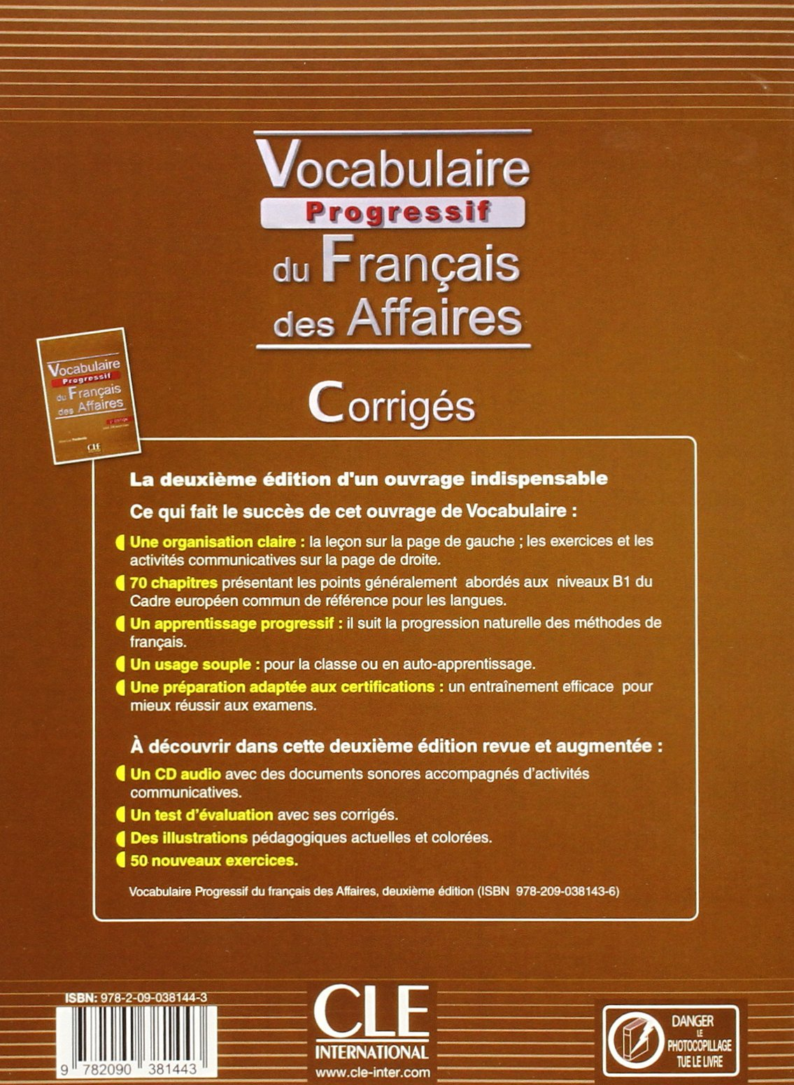 Amazon vocabulaire progressif du francais des affaires 2eme amazon vocabulaire progressif du francais des affaires 2eme edition corriges french edition 9782090381443 jean luc penfornis books fandeluxe Image collections