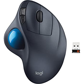 Logitech Ratón Inalámbrico Trackball M570, Color Negro