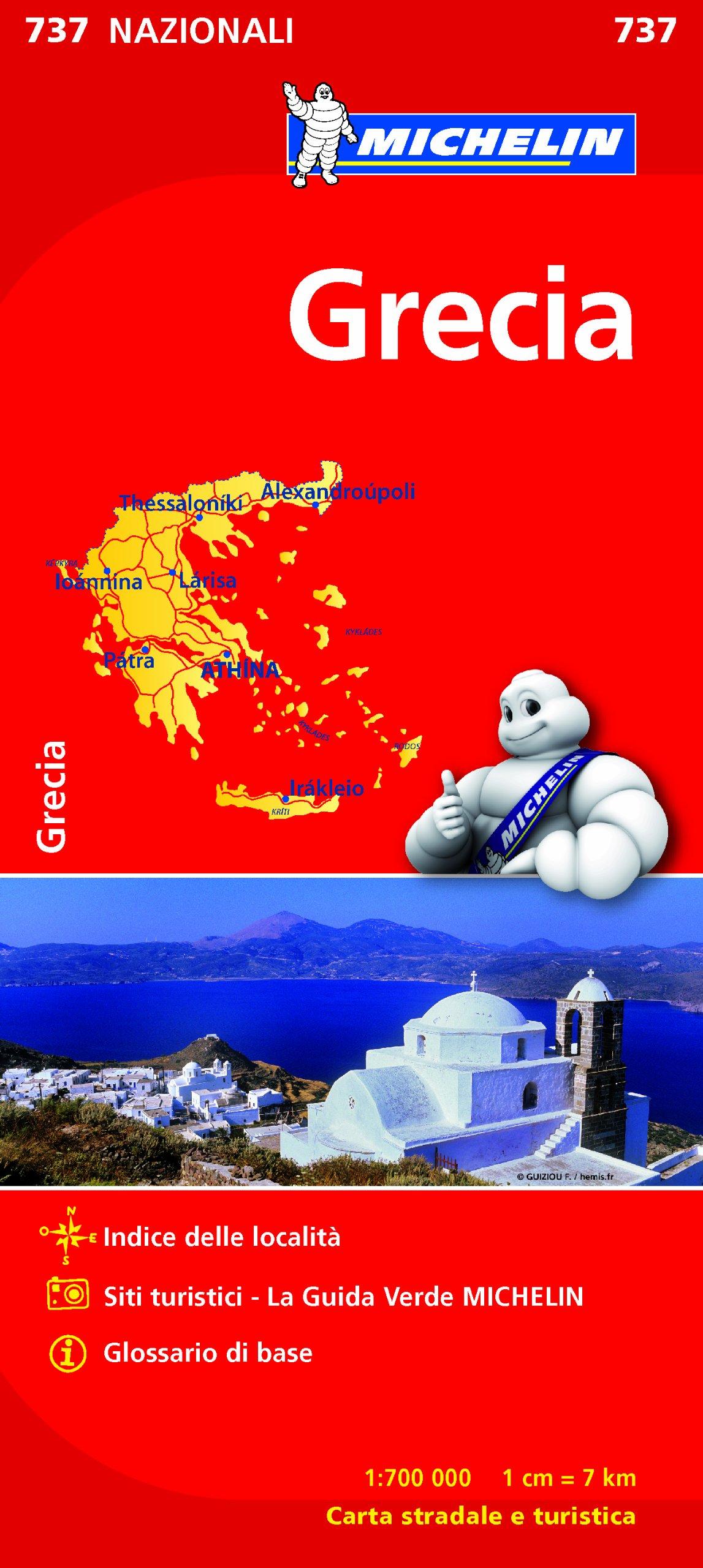Cartina Geografica Italia Michelin.Grecia 1 700 000 Mappa 14 Lug 2016 Michelin Italiana 2067172050