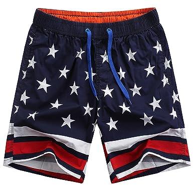 27835df83d Cheryl Bull Muti Stars Printed Men Beach Shorts Sumemr Loose Quick Dry  Boardshorts | Amazon.com