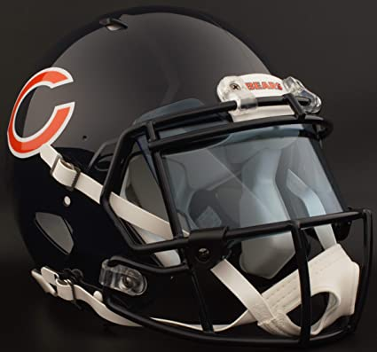 Amazon.com   Riddell Chicago Bears NFL Authentic Gameday Football ... 2232a6f07