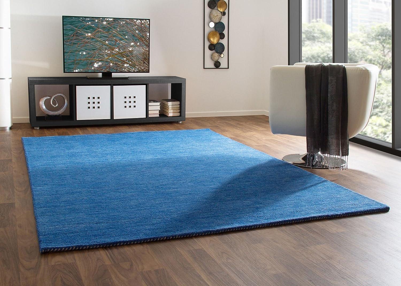 Gabbeh Teppich Haltu Young Fashion - Handarbeit aus 100% Schurwolle - blau, Größe  140x200 cm