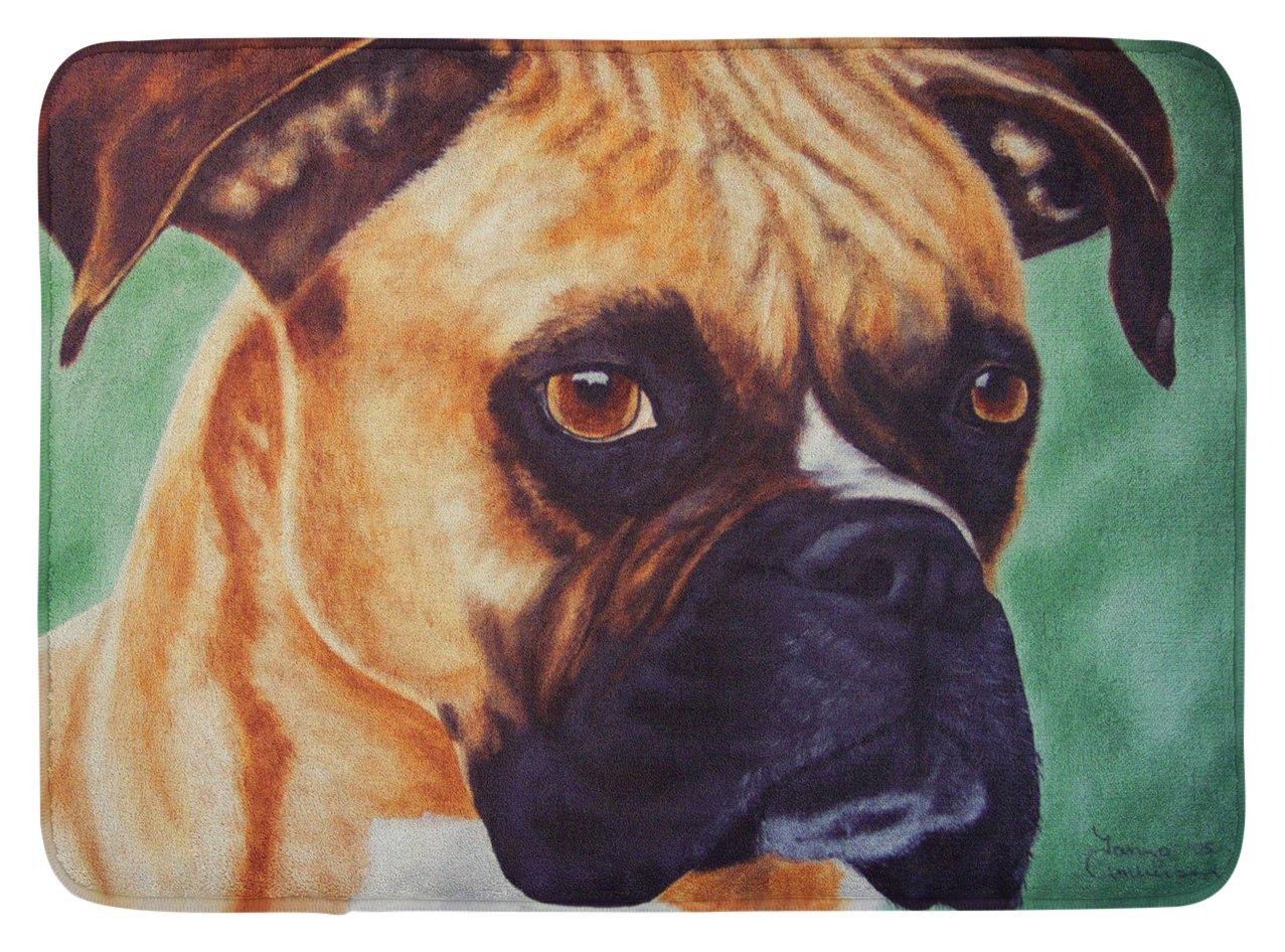 Carolines Treasures Boxer by Tanya and Craig Amberson Floor Mat 19 x 27 Multicolor