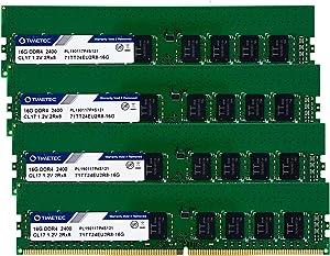 Timetec Hynix IC 32GB KIT (4x8GB) DDR4 2400MHz PC4-19200 Unbuffered ECC 1.2V CL17 1Rx8 Single Rank 288 Pin UDIMM Server Memory RAM Module Upgrade (32GB KIT (4x8GB))RAM Module Upgrade (32GB KIT(4x8GB))