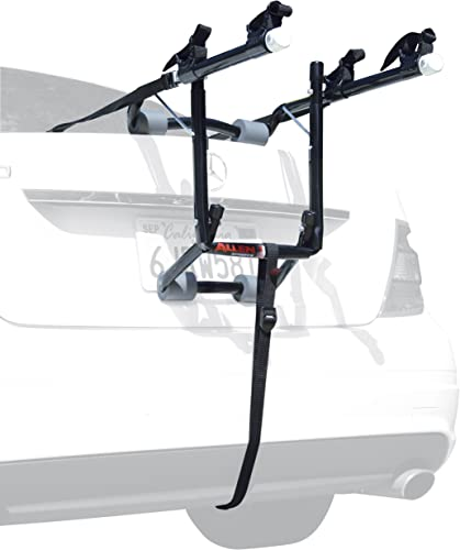 Allen Sports Deluxe 2-Bike Trunk Mount Rack, Model 102DB, Black/ Silver