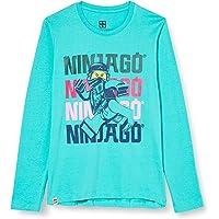 LEGO Camiseta de niña de Manga Larga con Estampado Ninjago en la Parte Delantera.