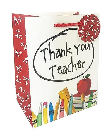 Bolsa de regalo grande con texto en inglés Thank You Teacher