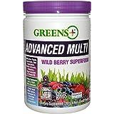 Greens Plus Advanced Multi Wild Berry Super Food | Dietary Supplement | Soy Dairy & Gluten free Greens Powder - 9.4 Oz