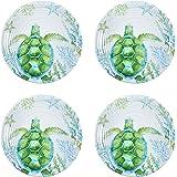 Coastal Living Seascapes Turtle Melamine Salad Plates Set of 4 Nantucket Distributing