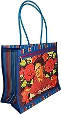 FRIDA KAHLO, MI REBOZO OAXACA, Bolsa de Mujer tipo Malla Multiusos, 38 x 35 x 18 cm, Estilo Mexicano Moderno