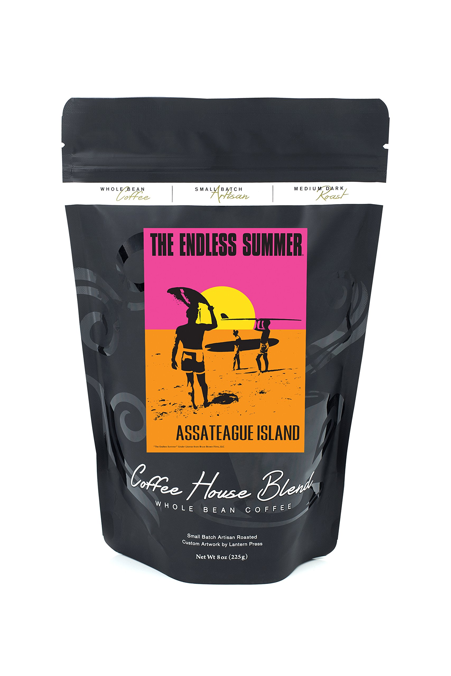 Assateague Island - The Endless Summer - Original Movie Poster (8oz Whole Bean Small Batch Artisan Coffee - Bold & Strong Medium Dark Roast w/ Artwork)
