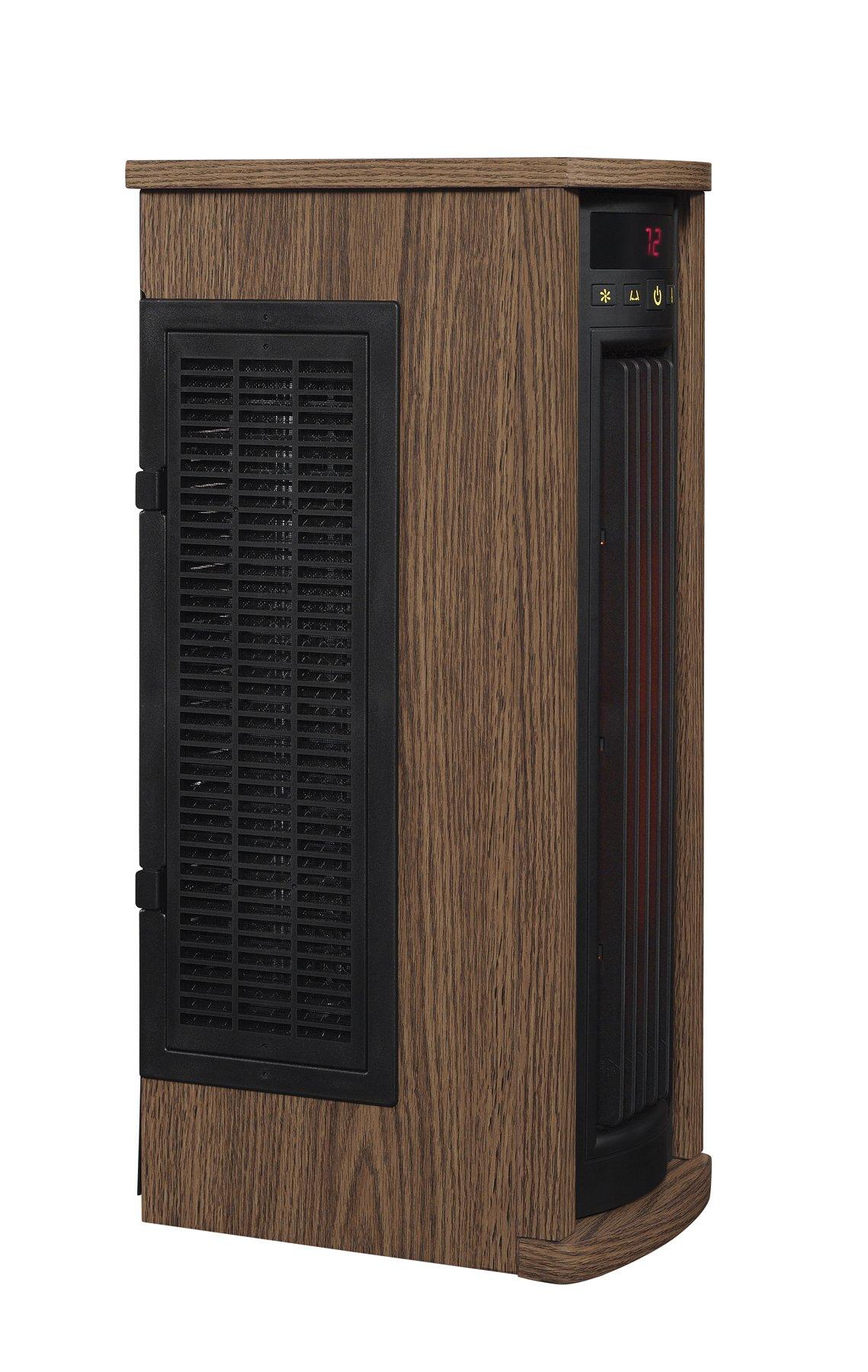Duraflame 5HM7000-PO78 Portable Electric Infrared Quartz Oscillating Tower Heater, Oak