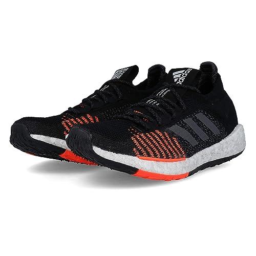 adidas Pulse Boost HD M Black Grey Solar Red