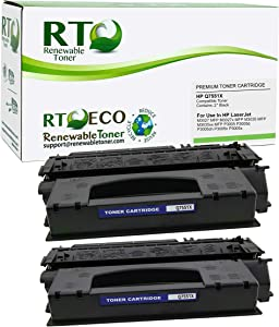 Renewable Toner Compatible Toner Cartridge High Yield Replacement for HP 51X Q7551X for Laserjet M3027 MFP M3035 MFP P3005 (Black, 2-Pack)