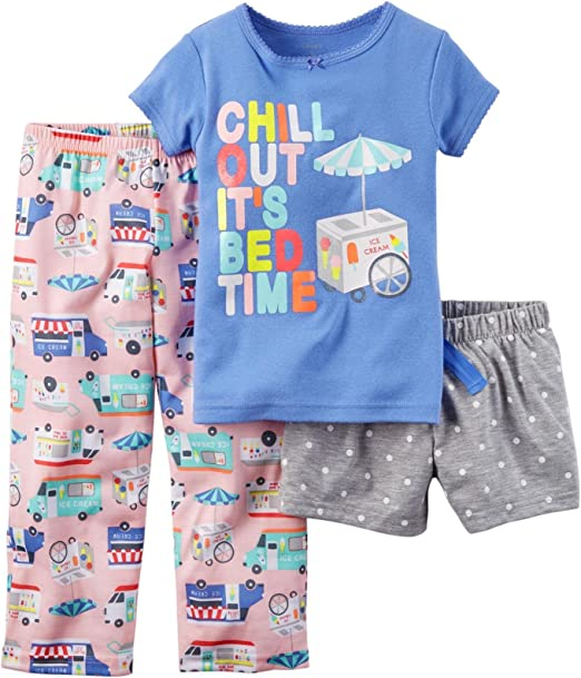 4 Carters Girls Two Piece Mouse in a Teacup Pajama Set