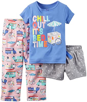4190ecb98209 Amazon.com  Carter s Girls  3 Piece Pj Set 353g029  Clothing