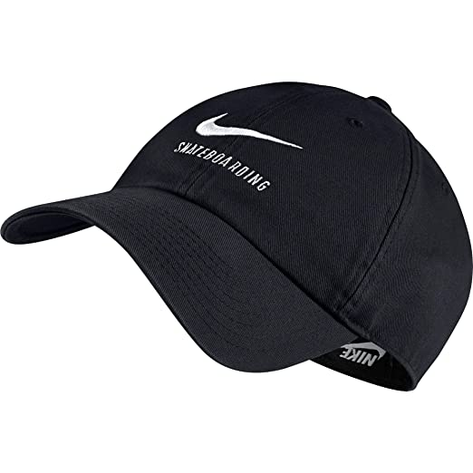 save off fb426 1dbf2 Nike H86 SB Skateboarding Adjustable Hat Black White 828635-010