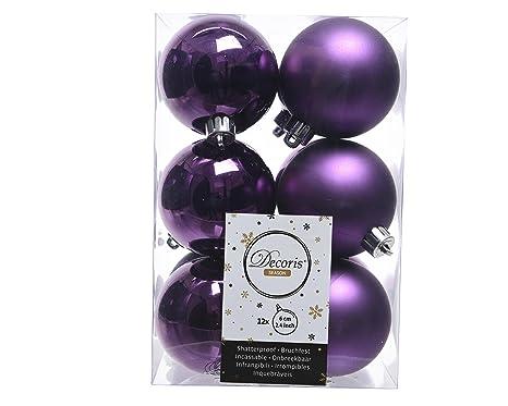 Christbaumkugeln Violett.12 Christbaumkugeln 60mm Violett Lila Opal Matt