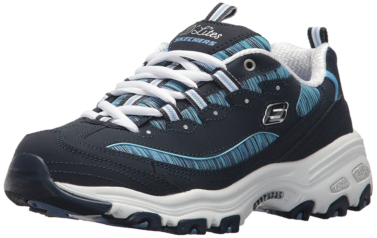 Skechers Women's DLites Interlude Sneaker B074HBWK3G 7 B(M) US|Navy Blue-50