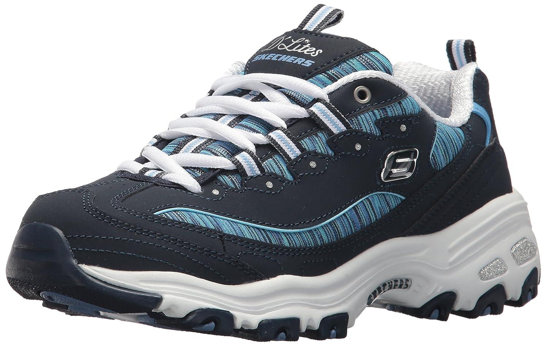 Navy bluee-50 Skechers Women's D'Lites - Interlude Sneakers