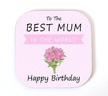 A la mejor mamá - Feliz cumpleaños posavasos Drink ...