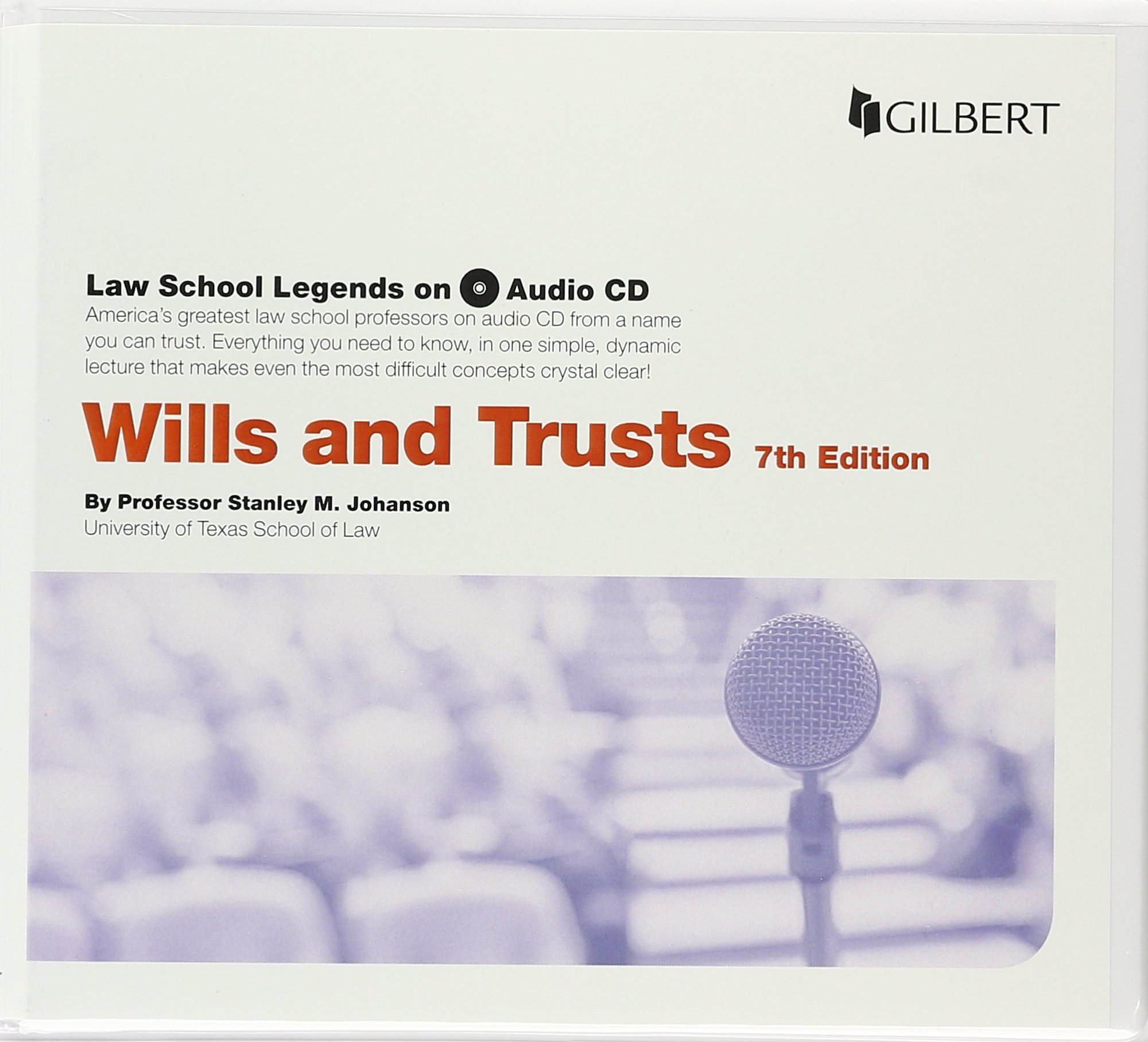 Law School Legends Audio on Wills and Trusts (Law School Legends Audio Series) by Gilbert