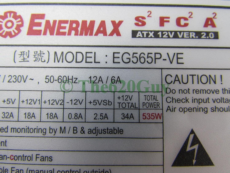 Enermax EG565P-VE 535W 535 Watts Power Supply ATX12V Switching Desktop PSU
