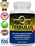 #1 Rated Muscle Force Tribulus Terrestris | 180 Capsules | 1500mg of Bulgarian Tribulus | 45% Saponins | NEW BIOAVAILABILITY FACTOR | MAXIMIZE TESTOSTERONE LEVELS | 3 MTH SUPPLY | Ships Free