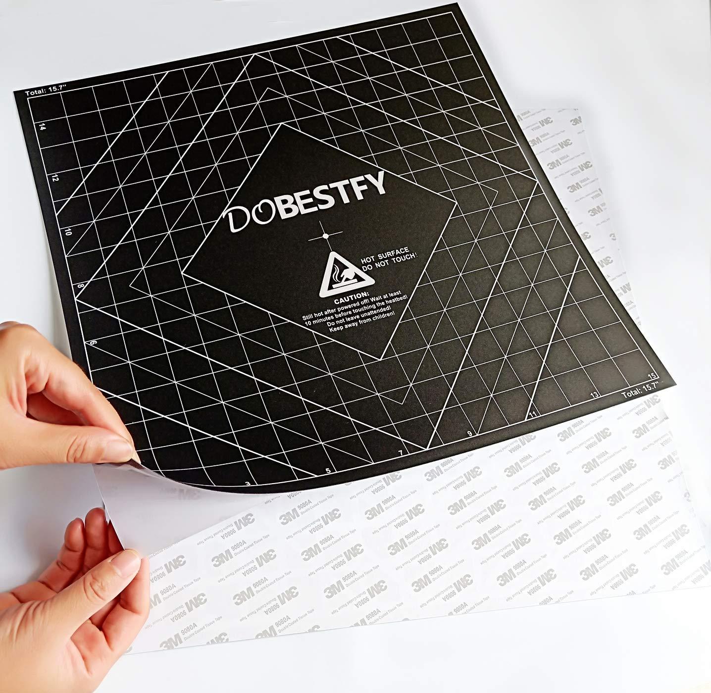 "235x235mm 3D Printer Heat Bed Platform Sticker Sheet for Ender 3 // Ender 3 Pro Pack of 4 3D Printing Build Surface Square 9.25/""x9.25"