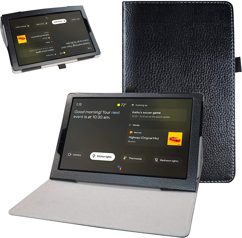 "Bige for Lenovo Yoga Smart Tab YT-X705F Case,PU Leather Folio 2-Folding Stand Cover for 10.1"" Lenovo Yoga Smart Tab YT-X705F Tablet(2019),Black"