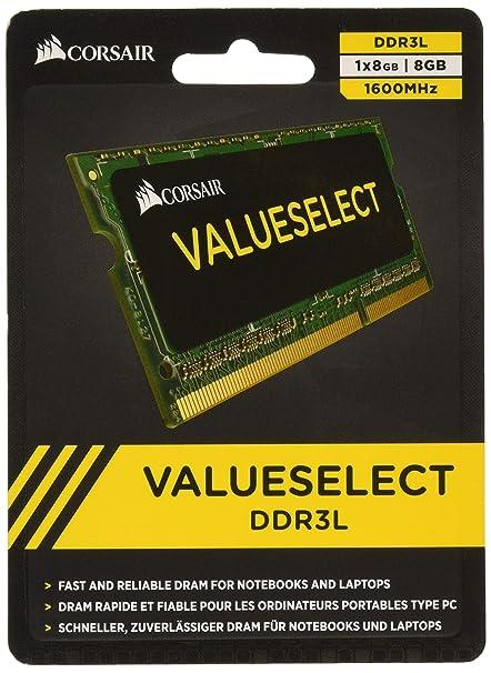 Corsair 8GB DDR3L Low Voltage 1 35V 1600Mhz Laptop Memory SODIMM  (CMSO8GX3M1C1600C11)