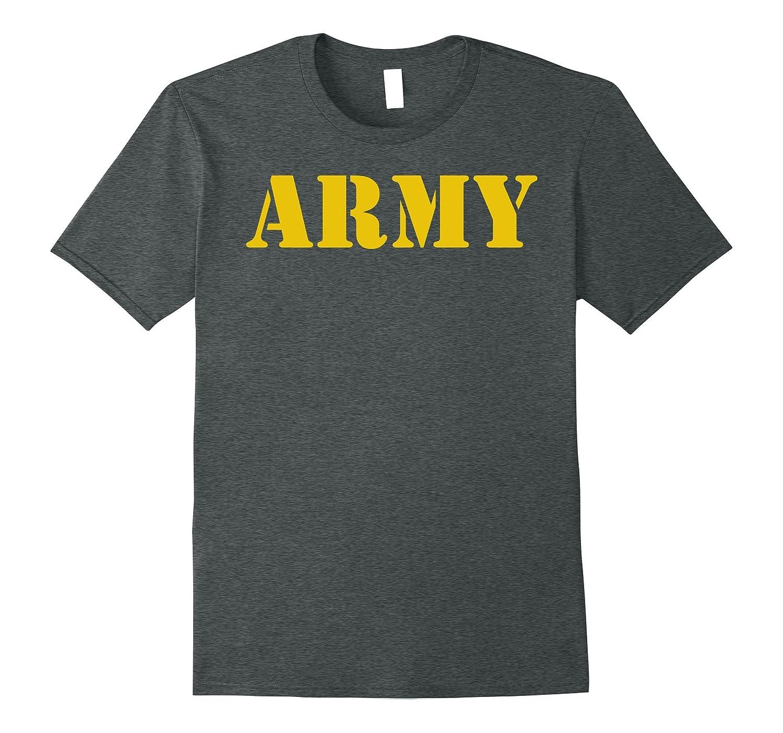 Vintage Army Logo Shirt APFU Workout Tee-T-Shirt