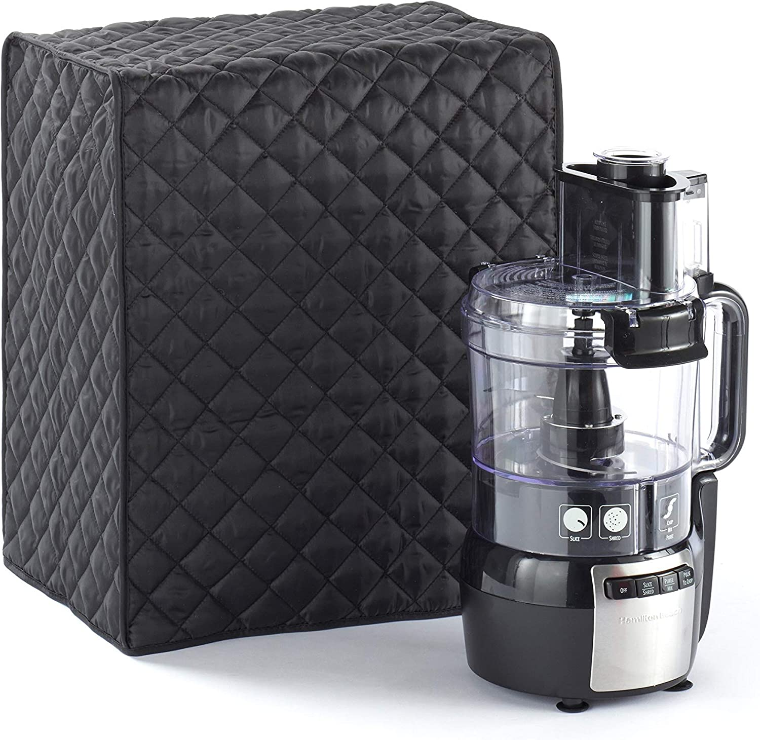 Covermates – Food Processor Cover – 15W x 11D x 18H – Diamond Collection – 2 YR Warranty – Year Around Protection - Black