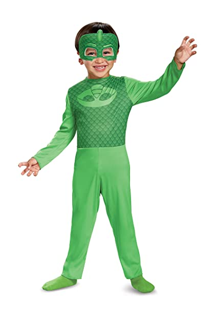 Disguise Gekko Costume PJ Masks Dress up for Kids Toddler 3-4T