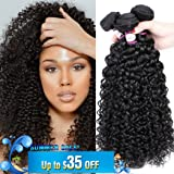 8A Brazilian Virgin Curly Hair 3 Bundles Remy Hair Extensions Natural Color Brazilian Kinkys Curly Hair Real Human Hair Weave