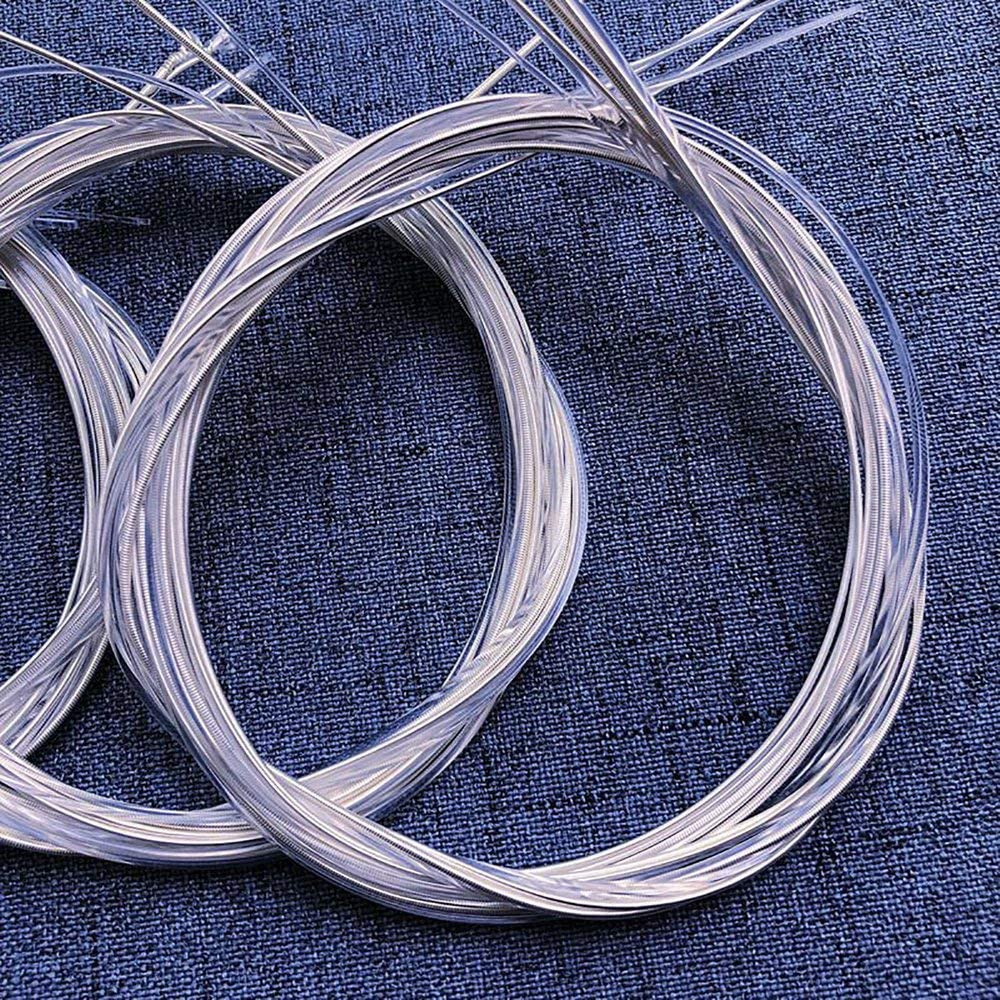 6Pcs Guitar Strings Set Jullynice Classical Guitar Strings 6Pcs//Set Clear Nylon Strings Silver-Plated Copper Musical Instrument Accessories