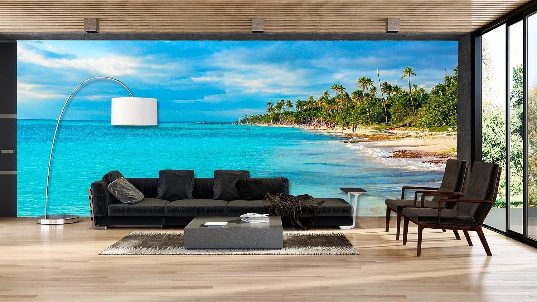 Fotomural Vinilo Pared Paisaje Playa Palmeras | Fotomurales pared | Fotomural Decorativo | Mural | Vinilo Decorativo | Varias Medidas 350 x 250 cm ...
