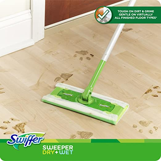 Amazon Swiffer Sweeper Cleaner Dry And Wet Mop Starter Kit For
