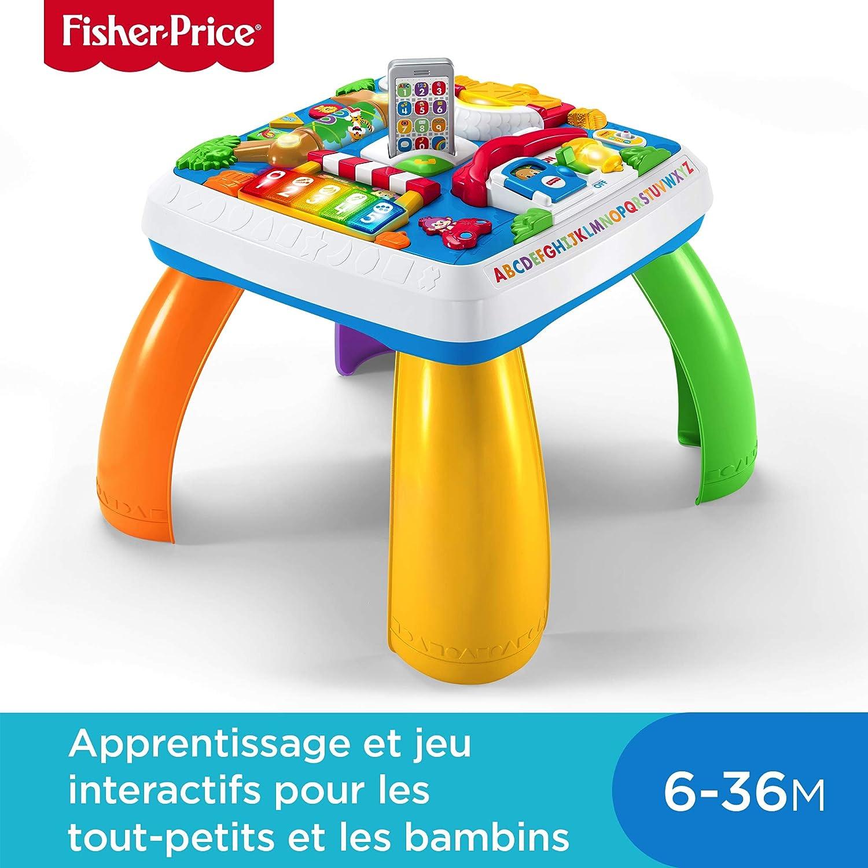 Fisher-Price Table d'Activité Bilingue Eveil Progressif pour bébé avec 5 zones de jeu, version française, 6 mois et plus, DPV20