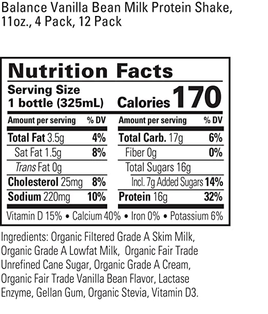 Organic Valley Balance, batido de proteína de leche orgánica ...