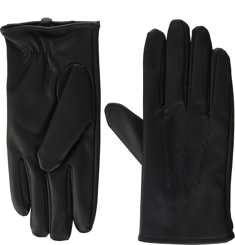 Mens Medium Faux sheepskin gloves Fur Lined One Size