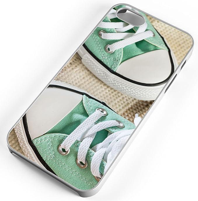 f5c5002eaa474 Amazon.com: iPhone Case Fits Apple iPhone 6 PLUS 6+ Green Converse ...