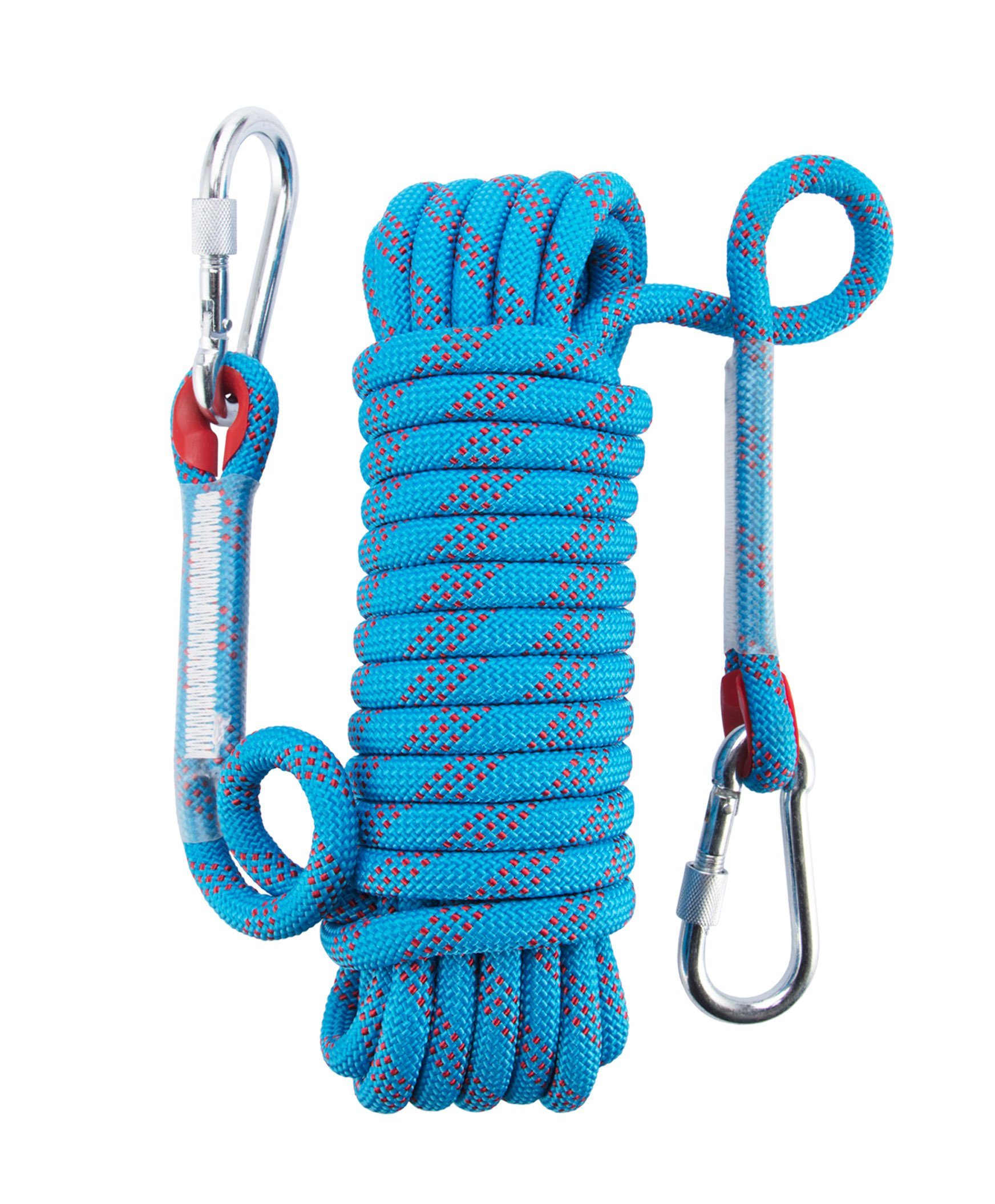 Ahyapiner Outdoor Rock Climbing Rope Mountaineering High Strength Life-Saving Static Rope(32.8ft Blue)