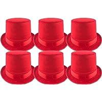 Pack 6 Sombrero chistera de Copa Rojo