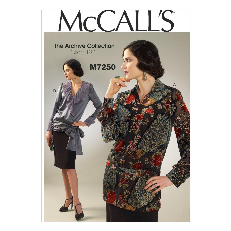 【McCALL'S】The Archive Collection Circa 1927 トップとベルトの型紙セット サイズ:US6-8-10-12-14 *7250   B014SOZMTW