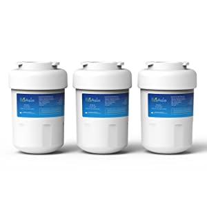 EcoAqua EFF-6013A Replacement for GE MWF SmartWater, MWFA, MWFP, GWF, GWFA, Kenmore 469991 Refrigerator Water Filter, 3 Pack