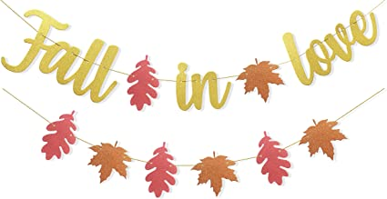 Save The Date Prop Autumn Wedding Decor Anniversary Bridal Shower Engagement Party Garland Fall in Love Banner Bridal Shower Decor